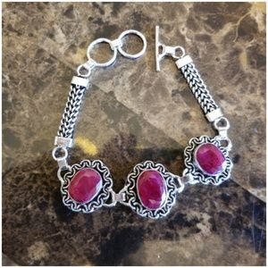 Jewelry - All Natural Pink Ruby Bracelet 8.25""